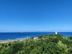 そして展望台どーん。 海が青い。