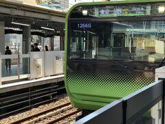 浜松町駅で山手線に乗り換えます。