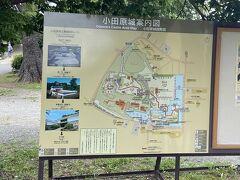 小田原城案内図 とりあえず銅門に進むことにしました。