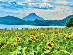 その後は池田湖から開聞岳を見て