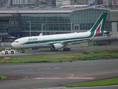 今日は、アリタリア航空機もいました。