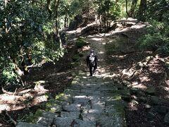 帰りは男坂から帰ることにします。 男坂は段差の高い階段がひたすら続く道で、こちらから登る人は何かのトレーニングしている人がほとんど。