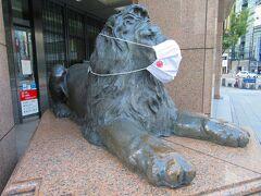 始まりは銀座三越本店のマスクをしたライオン。 虎ノ門・麻布台PJ現場へ行く前にハロウィンジャンボを買いに銀座の街を歩きます。