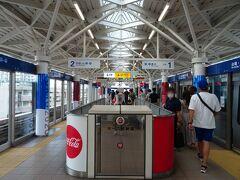 お台場海浜公園駅に着いたヨ。 ここからがオリンピックのメインの舞台ということもあリ、 気持ちが高ぶって来たヨ…!