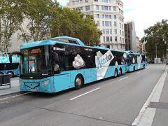 空港からは空港バスでカタルーニャ広場まで行きます。