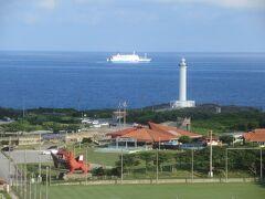 ホテルから。 残波岬灯台もすぐ近く。