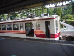 新藤原駅の乗り換え時間がないので、お急ぎくださいとの事。 ホームの向かえに待機している列車に乗っちゃいます。