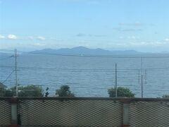 台風の影響もまだなくお天気もいいので琵琶湖もきれいに見える!