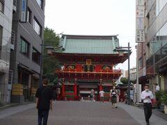 神田明神にもお参りしました。立派な門だこと!