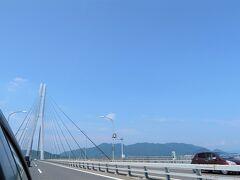 生口島から大三島にかかる多々羅大橋。  この先は愛媛県今治市。