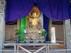 丈六釈迦如来座像 釈迦像が右手にハスの花を持っているのが特徴