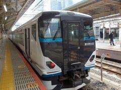 東京駅から修善寺まで特急 踊り子に乗って行く。