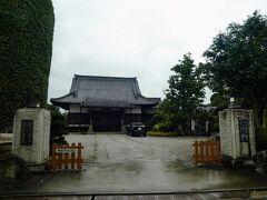 玉宝寺 こちらも飯能戦争の時に振武軍は逃げたために戦火を免れたお寺。  ここをお参りしている時から雨が強く降ってきました。