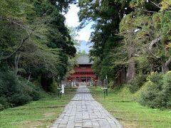 真正面に岩木山が見える 岩木山神社にお参りして
