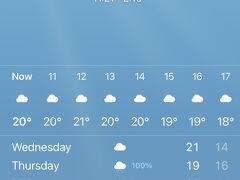 11:00、新千歳空港到着! 千歳空港周辺のお天気は曇り。 でも20℃前後って一番過ごしやすい気温!涼しくて気持ちいい~♪