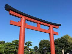 鶴岡八幡宮の三ノ鳥居が見えてきました。