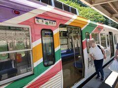 松本~新島々までの電車。 バスで新村まで行って、新村からこの電車で新島々へ。