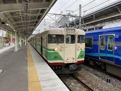 軽井沢からしなの鉄道に乗って小諸へ向かいます。