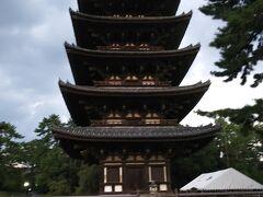 ほろ酔いでフラフラと興福寺の五重塔を見て、