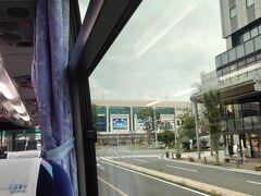 ★11:01 バスは定刻よりも10分程早く、郡山駅に到着。