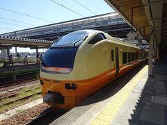 秋田駅からは、この列車に乗ります。