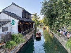 運河、小舟、茶館、風情はあります。