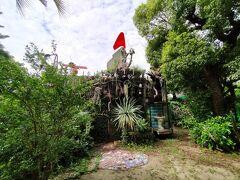 こちらは小学校の敷地内にあった「女根」 直島で同じような作風の建物を見た記憶が・・・