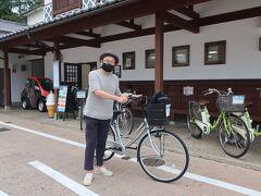まずはホテル近くの津山観光センターで 情報集めしてからレンタサイクルで出発です!  最近、自転車づいてるような・・・ ママチャリだけど(*_*)