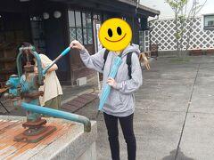 またちょっと歩くと「中町蔵の井戸」がありました。 ちゃんとポンプで汲み上げることができます。 後ろは蔵を改装した貸しスペース。