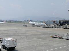 伊丹空港まで乗ってきた機材。