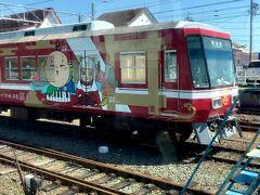 33<西鹿島駅> 都田駅から4つ目の駅は、遠州鉄道への乗り換え駅である「西鹿島駅」。通称「赤電」の遠鉄列車とすれ違った。