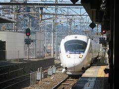 9月29日お昼過ぎ。 小倉駅に入って来た特急ソニック19号。