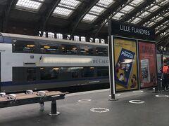約1時間後終点のLille Flandres 駅に到着。 Flandres 「フランドル」とは、歴史上ベルギーの西部を中心として、オランダの南西部からフランスの北端部までを含めた地方を言います。(英訳はフランダース。<フランダースの犬>の舞台ははベルギーのアントワープ)フランドル伯( Comte de Flandre)が、864年から1795年まで支配しました。 その間、フランスの王様、ブルゴーニュの公爵、15世紀にはスペイン、16世紀にまたフランドル伯、17世紀にフランスと領主が代わり代わりでした。