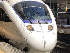 2021年10月5日(火)晴れ  白いソニックで、博多から小倉に向かいます。始発駅博多から乗車。