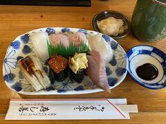 いったん市内に戻って昼ご飯は五島の海鮮をいただきにお寿司屋さんへ。 腹ごしらえの後は島内ぐるっと一周へ出発。