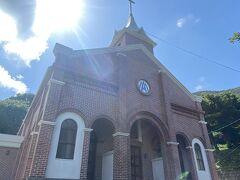 日本最初のルルドの泉がある教会。マリア様の像に癒される。