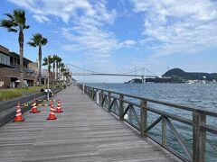関門橋が見えました