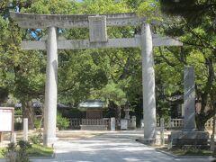 松陰神社の鳥居です。