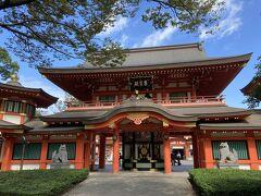 千葉神社到着。創建は1000年と言いますから千年以上の歴史を持っています。