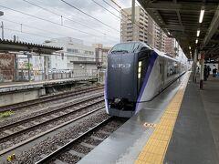 甲府からあずさで東京に帰ることにしました。