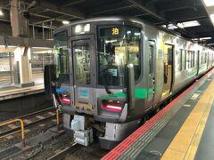 金沢駅からあいの風とやま鉄道車両に乗って帰ります。  3泊4日の予定が2泊3日に、乗れなかった路線は来年2月にリベンジしたいと思っています。  また、1日分しか使えなかった「旅名人の九州満喫きっぷ」は、今年中に九州北部の乗り直しに使えたらいいのですが。