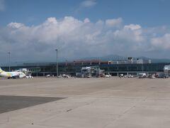 函館空港に着陸~!!!。