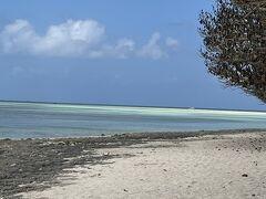 コンドイビーチまで歩きます。ビーチが綺麗すぎる。潮が引いてて、うっすら遠くにも砂浜が見えます。歩いて行けました。楽しい!