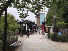 女鳥羽川の畔は縄手通りで、飲食店や土産物店が建ち並ぶちょっとした繁華街です。