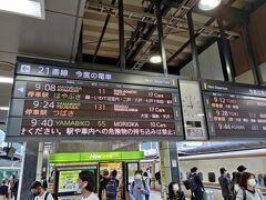 新幹線ホーム そこそこの混み具合