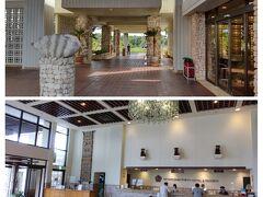 空港からタクシーで30分、宮古島東急ホテルに到着。 通路がオープンエアーなのは、まさに南国リゾートの雰囲気! ロビーフロアも広くてソファーも沢山あり、ゆったり過ごせます。