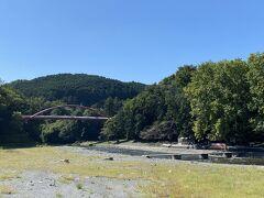 名栗川(入間川)と割岩橋。 緊急事態宣言は終わりましたが、河原への進入はまだ禁止されてました。
