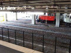 「大宮駅」に到着☆  高崎方面(高崎線)に向かう電車から、宇都宮方面(東北線)に向かう電車に乗り換え☆  と、ディーゼル機関車による入れ替え作業を目撃☆ 185系の電車の入れ替え作業をやっていたようです。  電車ばかりの駅構内でディーゼルエンジンを響かせて入れ替えしていたのは、珍しかったです☆笑