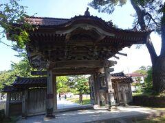 浄福寺の唐門(総桧造りで四脚向唐門)
