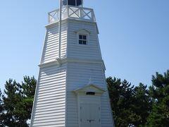 日和山公園(六角灯台 明治28年、木造六角洋式灯台として竣工)
